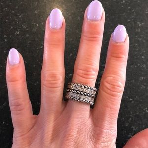 Jewelry - Montana Silversmith's Size 6 Rope Ring!